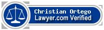 Christian Alexander Ortego  Lawyer Badge