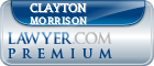 Clayton Morrison  Lawyer Badge