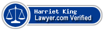 Harriet Hults King  Lawyer Badge