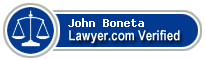 John Boneta  Lawyer Badge