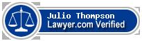 Julio Anthony Thompson  Lawyer Badge