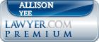 Allison Gayle Yee  Lawyer Badge