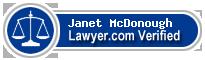 Janet M. McDonough  Lawyer Badge