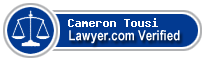 Cameron H. Tousi  Lawyer Badge