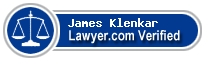 James Anthony Klenkar  Lawyer Badge