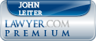 John M. Leiter  Lawyer Badge