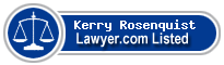 Kerry Rosenquist Lawyer Badge