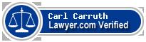 Carl Benton Carruth  Lawyer Badge