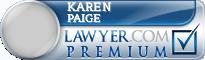 Karen Vitolins Paige  Lawyer Badge