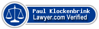 Paul Granger Klockenbrink  Lawyer Badge