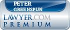 Peter David Greenspun  Lawyer Badge