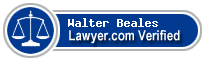 Walter Randolph Beales  Lawyer Badge