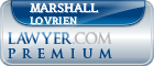 Marshall Lovrien  Lawyer Badge