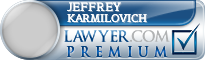 Jeffrey Michael Karmilovich  Lawyer Badge