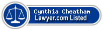 Cynthia Cheatham Lawyer Badge