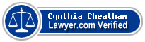 Cynthia A. Cheatham  Lawyer Badge
