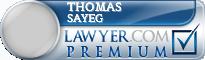 Thomas James Sayeg  Lawyer Badge