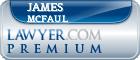 James Vincent McFaul  Lawyer Badge