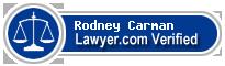 Rodney B. Carman  Lawyer Badge