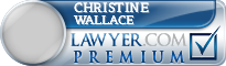 Christine M. Wallace  Lawyer Badge