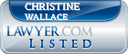 Christine Wallace Lawyer Badge