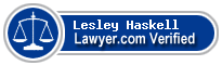 Lesley Apple Haskell  Lawyer Badge