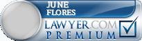 June M Wiyrick Flores  Lawyer Badge