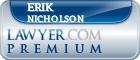 Erik W Nicholson  Lawyer Badge