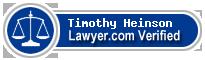 Timothy J Heinson  Lawyer Badge