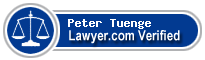 Peter O. Tuenge  Lawyer Badge