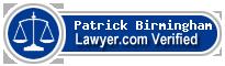 Patrick M Birmingham  Lawyer Badge