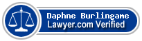 Daphne Burlingame  Lawyer Badge