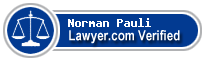 Norman William Pauli  Lawyer Badge