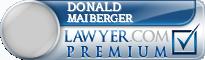 Donald P Maiberger  Lawyer Badge