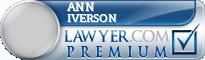 Ann M. Iverson  Lawyer Badge
