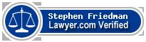 Stephen A. Friedman  Lawyer Badge