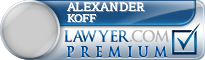 Alexander William Koff  Lawyer Badge