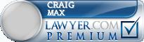 Craig Andrew Max  Lawyer Badge