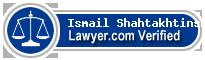 Ismail Tofig Shahtakhtinski  Lawyer Badge
