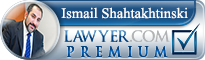 Ismail Tofig Shahtakhtinski  Lawyer Badge