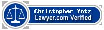 Christopher S. Yotz  Lawyer Badge