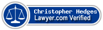 Christopher Carl Hedges  Lawyer Badge