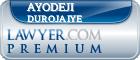 Ayodeji Oladosu Durojaiye  Lawyer Badge