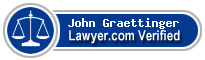 John Sells Graettinger  Lawyer Badge