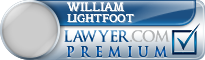 William P. Lightfoot  Lawyer Badge