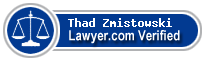 Thad B. Zmistowski  Lawyer Badge