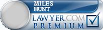 Miles Clinton Hunt  Lawyer Badge