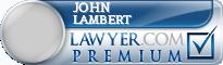 John F. Lambert  Lawyer Badge