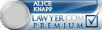 Alice E. Knapp  Lawyer Badge