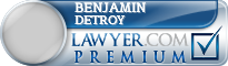 Benjamin E. DeTroy  Lawyer Badge